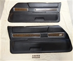 1972 - 1973 Deluxe Interior Woodgrain Door Panels, Pair, GM Used