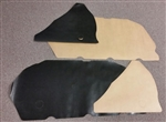 1967 Door Panel Water Shields Set, Coupe, Front and Rear, OE Style