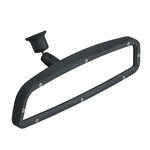 Flat Black Custom Billet Aluminum Windshield Mount Rear View Mirror with Convex Glass