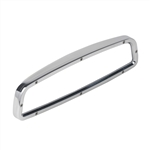 Polished Custom Billet Aluminum Rear View Mirror With Convex Glass, Without Windshield Mounting Bracket