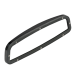 Gloss Black Custom Billet Aluminum Rear View Mirror With Convex Glass, Without Windshield Mounting Bracket