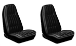 1971 - 1977 Camaro Custom Cloth Seat Covers Set, Front Buckets