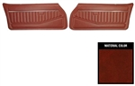 1978 - 1979 Camaro Front Door Panels Set, Standard Interior, Pre-Assembled Pair