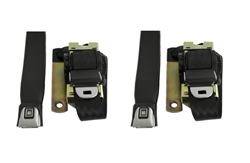 1975 - 1981 Camaro FRONT 3-Point Retractable Seat Belts Set with Color Choice & OE STYLE GM Push Buttons