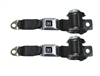 1974 - 1981 Camaro REAR 2-Point Retractable Seat Belts Set with Color Choice & OE STYLE GM Push Buttons
