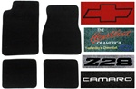 2001 Camaro Floor Mats Set, Custom Carpeted with Choice of Logos and Colors