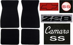 1972 Camaro Floor Mats Set, Custom Carpeted with Choice of Logos and Colors