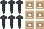 1982 - 1992 Black Camaro Interior Rear Hatch Cargo Trim Panel Screw and Plastic Nut Kit, 12 Piece Set