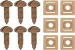 1982 - 1992 Beechwood Camaro Interior Rear Hatch Cargo Trim Panel Screw and Plastic Nut Kit, 12 Piece Set