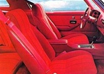 1977 Camaro Front and Rear Deluxe Bucket Seat Covers Set, Vinyl with Vinyl Inserts