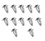 1967 - 1981 Door Panel Clips Set, L-Style, Metal, 12 Pieces
