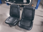 1967 - 1968 Camaro Front Bucket Seat Set, Original Black Covers, Used GM