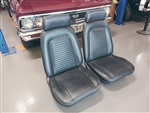 1969 Camaro Front Bucket Seat Set, Original Black Covers, Used GM