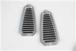 1968 - 1969 Door Jamb Air Vent Louvers, Billet Aluminum, Choice of Finish, Pair