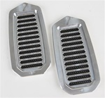 1970 - 1981 Camaro Door Jamb Air Vent Louvers, Billet Aluminum, Pair