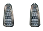 1968 - 1969 Camaro Billet Aluminum Door Jamb Air Vent Louvers, Choice of Finish, Pair