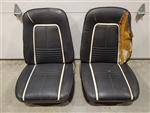 1967 Camaro Deluxe Interior Front Bucket Seat Assemblies Set, Original GM Used