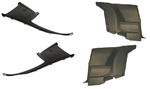 1975 - 1981 Camaro Rear Side Plastic Panel Kit, Sail Panels and Arm Rest Side Panels, 4 Piece Set