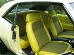 1969 Yellow Houndstooth Seat Covers Fronts Buckets Only