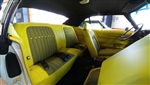 1969 Camaro Rear Seat Covers Set, Yellow Houndstooth