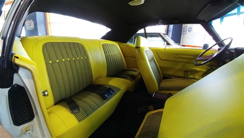 Incredible 1969 Camaro Rear Seat Covers Set Yellow Houndstooth Lamtechconsult Wood Chair Design Ideas Lamtechconsultcom