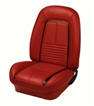 1967 Camaro Sport Seat Covers Set (TMI), Front Buckets, Deluxe Custom, Pair