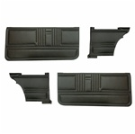 1967 Door Panels Set, Unassembled,  Standard Interior Coupe, Front and Rear