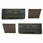 1967 Door Panels Set, Standard Interior Convertible, Front and Rear, W/O Chrome