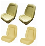 1967 - 1968 Camaro Custom TMI Original Sport Seat Front Seat Covers and Foam Set, Standard Interior