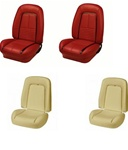 1967 Camaro Custom TMI Original Sport Seat Front Seat Covers and Foam Set, Deluxe