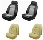 1969 Camaro Custom TMI Original Sport Seat Front Seat Covers and Foam Set, Deluxe Houndstooth