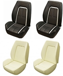 1967 DLX Camaro Custom TMI Sport II Seat Front Seat Covers and Foam Set, Deluxe Interior