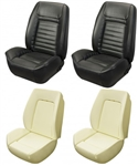 1968 DLX Camaro Custom TMI Sport II Seat Front Seat Covers and Foam Set, Deluxe Interior