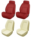 1969 DLX Camaro Custom TMI Sport II Seat Front Seat Covers and Foam Set, Deluxe Comfortweave