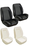 1967 - 1968 Sport R Seat Covers and Foams Set (TMI), Front Buckets, Standard Custom