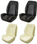1969 Camaro Custom TMI Sport R Front Seat Upholstery Cover and Foam Set, Standard Interior