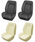 1967 Camaro Custom TMI Sport R Seat Front Black Seat Covers and Foam Set, Deluxe Interior
