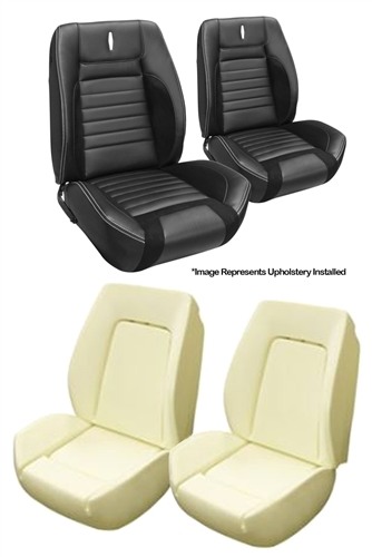 Cool 1968 Sport R Seat Covers And Foams Set Tmi Front Buckets Deluxe Custom Onthecornerstone Fun Painted Chair Ideas Images Onthecornerstoneorg