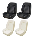 1969 Camaro Custom TMI Sport R Seat Front Black Seat Covers and Foam Set, Standard Interior