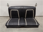1967 Camaro Rear Seat Assembly, Black Deluxe Interior, Original GM Used