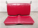 1967 - 1968 Camaro CONVERTIBLE Rear Seat Assembly, Red Standard Interior, Original GM Used