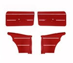 1968 Camaro Standard Interior Front and Rear Door Panels Set, Coupe or Convertible