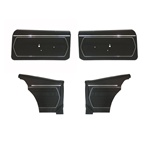 1969 Front and Rear Standard Interior Coupe Door Panel Set Pre-Assembled