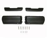 1969 Camaro Door Panel Arm Rests Kit, Standard Interior Black