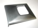 1967 - 1968 Seat Belt Buckle Cover, Deluxe, Stainless, Each