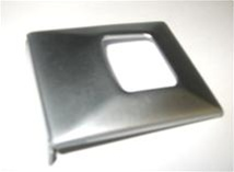 1967 - 1968 Camaro Seat Belt Buckle Cover, Deluxe, Stainless | Camaro Central