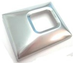 1969 - 1971 Seat Belt Buckle Cover, Deluxe, Stainless Brushed Large, Each
