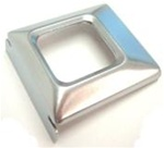 1971 - 1973 Seat Belt Buckle Cover, Deluxe, Stainless Brushed Small, Each