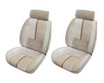 1988 - 1992 Camaro Deluxe Front Seat Covers Set with CAMARO Embroidery and Accent Strip