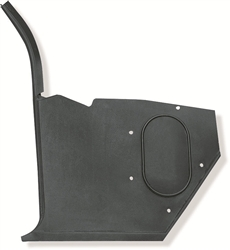 1967 - 1968 Camaro Kick Panel with Air Conditioning, Black, LH, 7664685